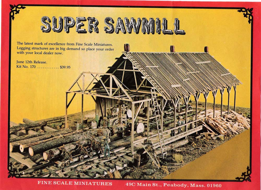 Ihc 709 Ho Scale Lumber Mill Building Kit